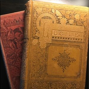 Very old vintage books from 1883